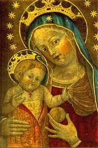 Mary with the Infant Jesus, St Catherine of Bologna, 15th century. Source: wikipedia.