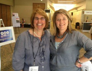 Hanging out with Lisa Schmidt at the Catholic New Media Conference in 2012.