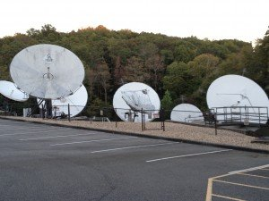 EWTN's satellite dishes -- beaming the message out to the world!