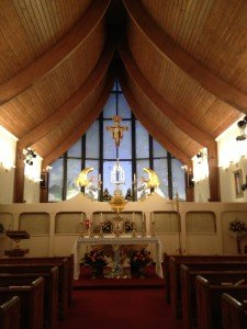 The Chapel at EWTN. I was happy to attend Mass and adoration there with the Friars!