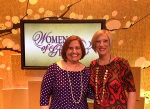 "I'm with Johnette Benkovic on the set of ""Women of Grace"". 10.24.13"