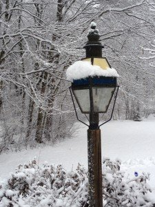lamp post… on snowy days I expect to me Mr Tumnus to appear...