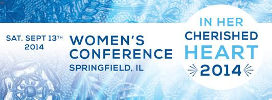 Women in the Diocese of Springfield Illinois: I'll be there Sept 13!