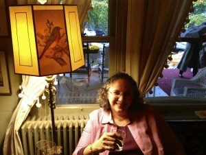 A toast with Maria Johnson at the Red Lion Tavern in Stockbridge MA, Oct 2014.