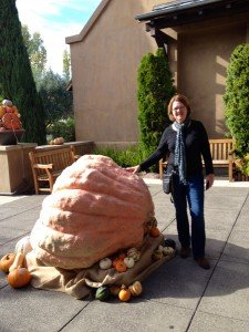 Once again, capturing images of my friends with giant gourds. Lisa with Great Pumpkin II.