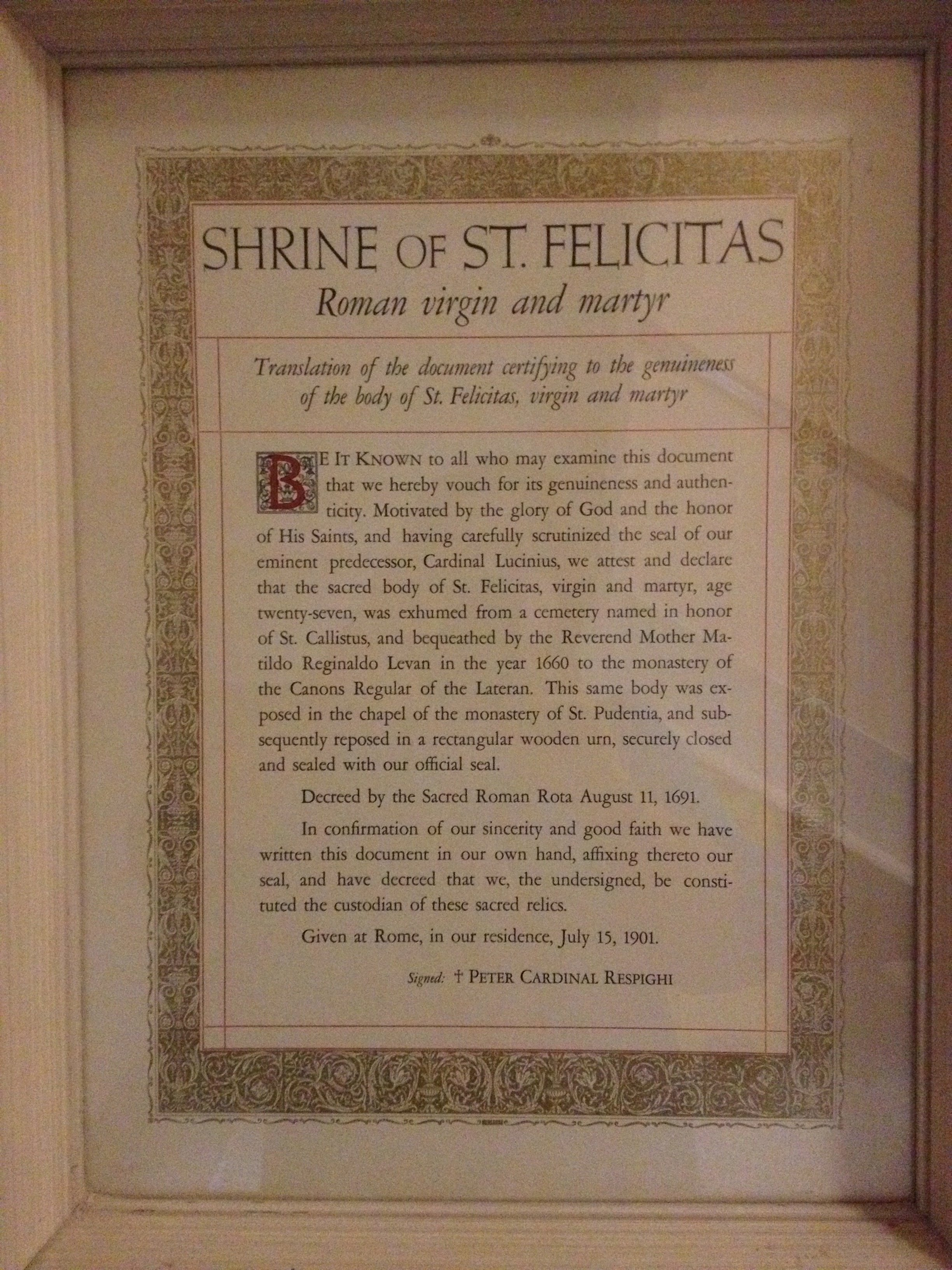 venerating the saints relics and real life a photo essay documentation of how this first class relic got to springfield il a virgin