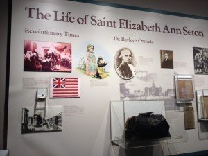 Part of an extensive exhibit on the saint's life and works.
