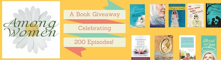 "Celebrate Among Women's ""200th"" episode by entering to win 1 of 4 prize packs (3 books each)! Enter thru 12/9."